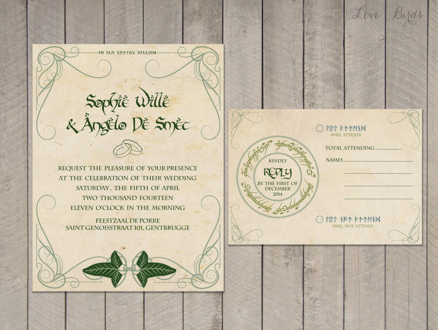Parts Of Wedding Invitation: Lord Of The Rings Wedding Invitations: Part One