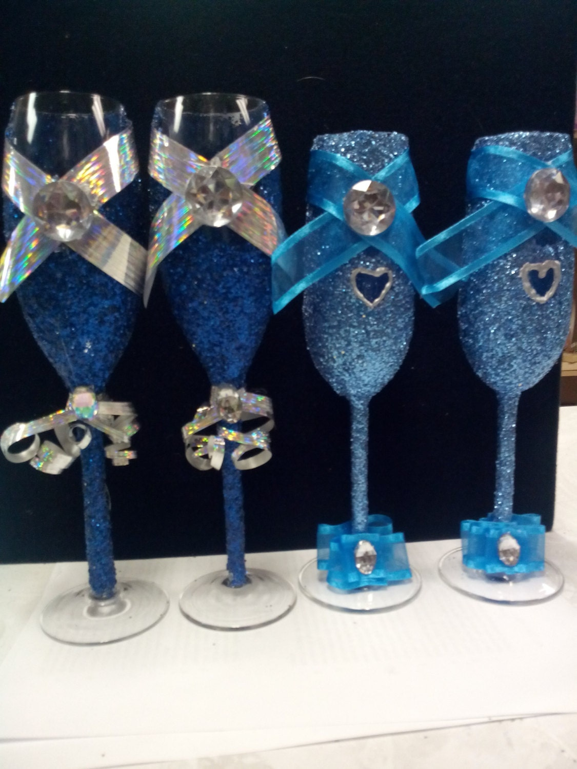 Items similar to glitter glass champagne for sweet 16 for Copas de champagne