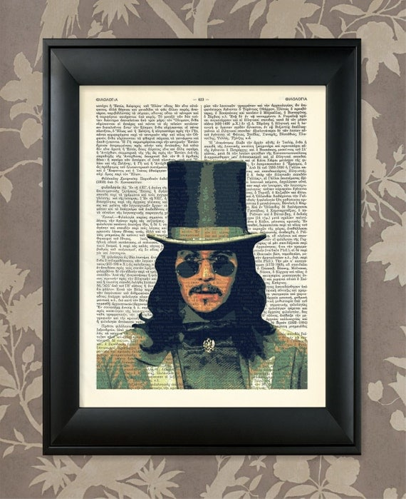 "Bram Stoker's Dracula Poster/ Upcycled Dictionary Antique Art Print / 8.5""x11"" (210x280 mm) / Vintage Greek Encyclopedia Poster"