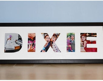 custom name frame personalized frame personalize photo collage personalized wall plaque