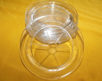 Vintage Clear Glass Coasters Set of 5