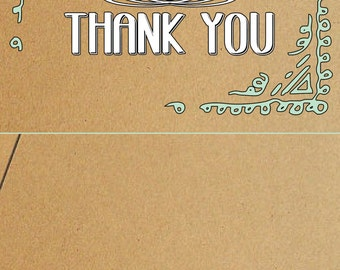 Paper bag Thank You card