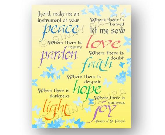 Priceless image in st francis prayer printable
