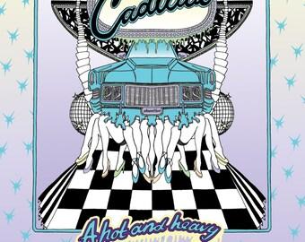 A3 Cadillac Art print