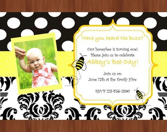 Happy Bee-day! digital party invitation