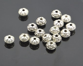 20pc    Antiqued Silver Plated   Bead Spacers Beadwork