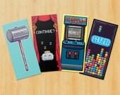 Pixel Art Video Game Inspired Bookmarks - Set of 4 Super Duper Pixel Art Bookmarks (Set 2)