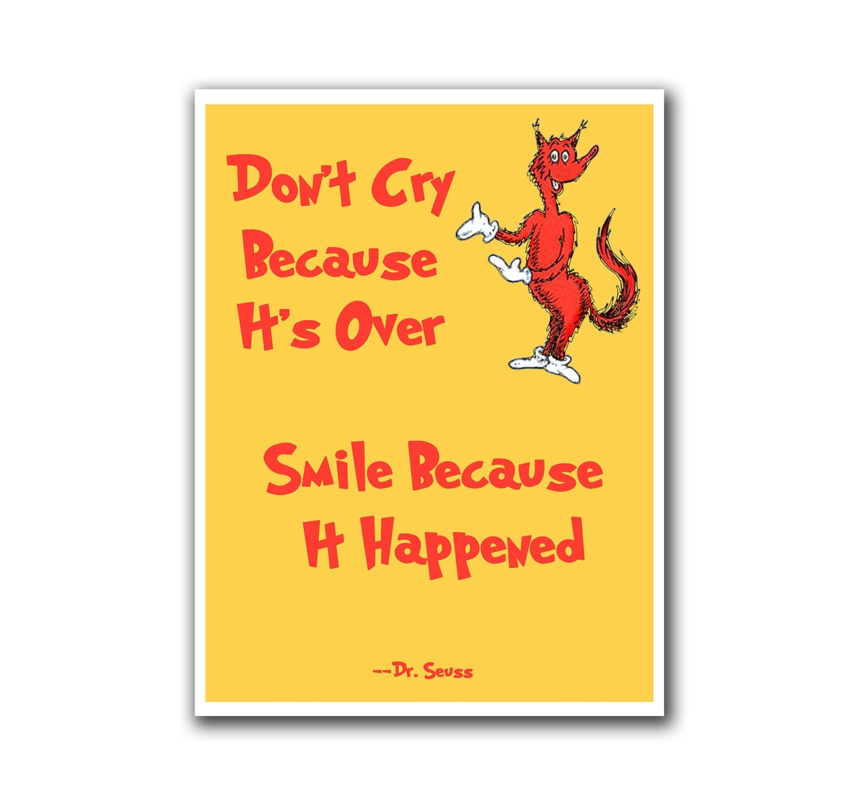 Nursery Art Wall Decor Dr Seuss Poster Smile Print By