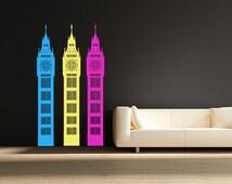 Big Ben Wall Decal London Wall Sticker United Kingdom England Decor