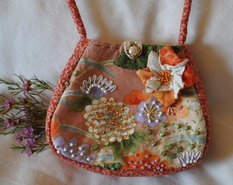 Handmade Embroidered and Beaded Purse #10