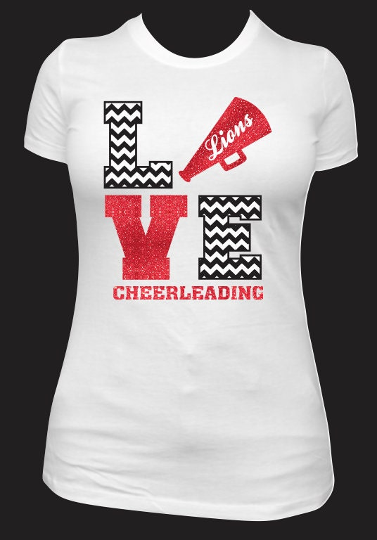 Cheer spirit shirt by neonleoparddesigns on etsy Cheerleading t shirt designs