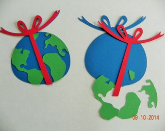 Earth Is A Gift paper crafting ornament