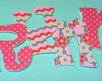 Custom Decorated Wooden Letters - Addison Inspired
