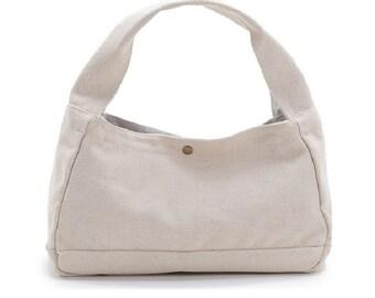 Canvas Handbag,White Canvas Tote Bag, Small Canvas Diaper Bags, Canvas Storage Bag 2 colors