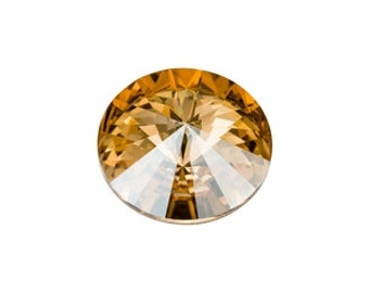 SWAROVSKI 1122 18mm Rivoli - Golden Shadow