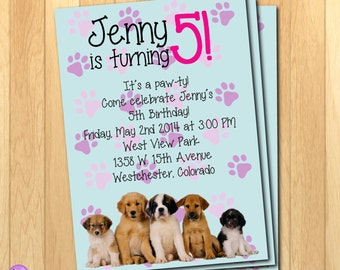 Adorable Puppy Party Birthday Printable Invitations!