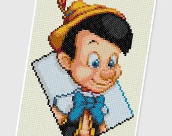 PDF Cross Stitch pattern - 0252.Pinocchio - INSTANT DOWNLOAD