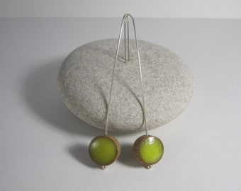 Ceramic and silver earrings