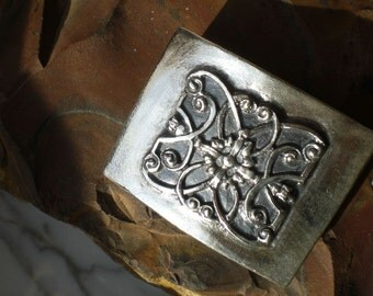 silver buckle for your belt in blackened sterling silver 925