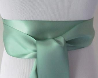 Sage Green Ribbon Sash / Double Faced Ribbon Sash / Bridal Sash / Bridal Ribbon / Sage Green
