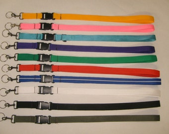 """Key chain strap with 1"""" quick Release buckle,Lanyard Neck strap Made in U.S.A."""