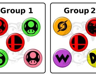 Super Smash Bros Buttons