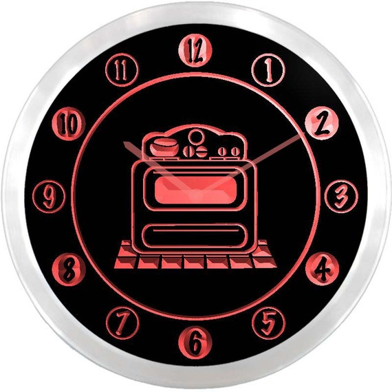 Lighted Kitchen Signs: Nc0999 Retro Stove Kitchen Neon Sign LED Wall Clock By
