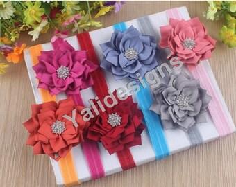 U Pick Wholesales Rhinestone Flower Headband Baby Headbands. Newborns Headbands. Girl's Headband YTH28