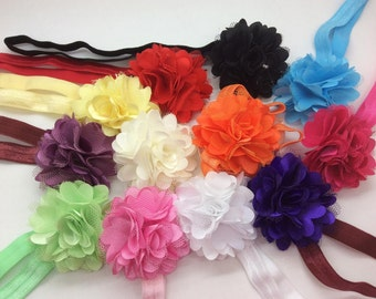 U Pick Wholesales Tulle Mesh Flower Headband Baby Headbands. Newborns Headbands. Girl's Headband YTH03