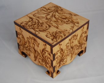 Small Keepsake Box decorated with Victorian Embelishments