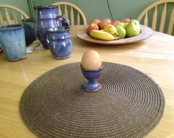 Stoneware Egg Cup in Turquoise (Blue) or Oatmeal (Off-White) Glaze