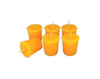 12 Amber Classic Hand-poured Unscented Votive Candles