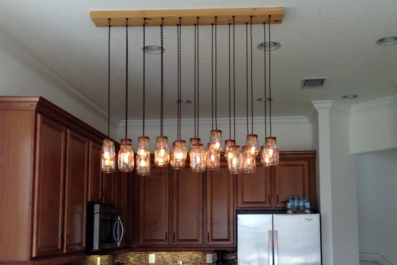 16 Light DIY Mason Jar Chandelier Rustic Cedar Rustic Wood