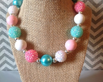 Pink & Turquoise Sparkle