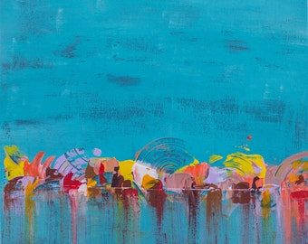 Original Contemporary modern Abstract painting by Afshin Tabei