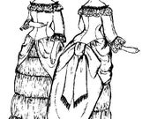 """Vintage French Dress Pattern for 16"""" Doll"""