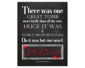 Dracula - vampire decor - book quote art - bram stoker dracula - halloween wall decor - gothic art - halloween print - instant download