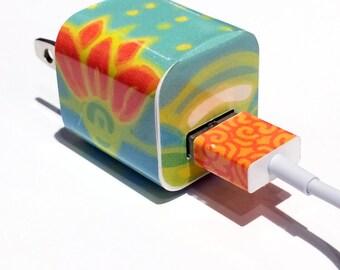 TechTattz Lotus Flower USB Charger Decal Skin Wrap Sticker