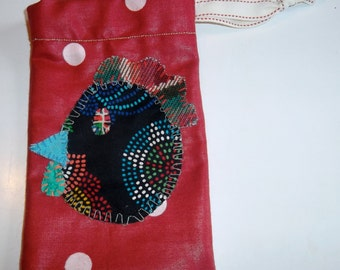 Hand sewn rooster gift bag