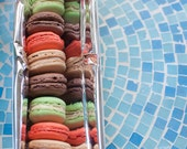 1 dozen assorted, gourmet French macarons in any combination. Try them all!