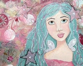 Star Fairy Giclee Print 10x10 Mixed Media