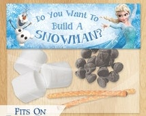 Do You Want to Build a Snowman Frozen Favor Bag Toppers - INSTANT DOWNLOAD Disney Frozen Birthday Printable Party Treat Candy Loot Bags Olaf