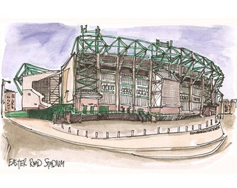 Hibernian Football Club, Easter Road Stadium in Leith, Edinburgh