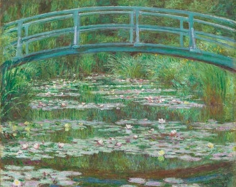 "The Japanese Footbridge.  Print 30"" x 24"""