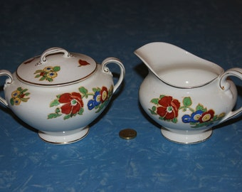 Pareek Johnson Bros Milk Jug and Sugar Bowl
