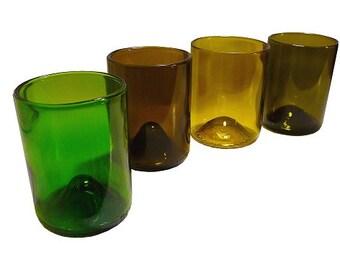 Refresh Glasses 12oz Made From Wine Bottles (Set of 4)