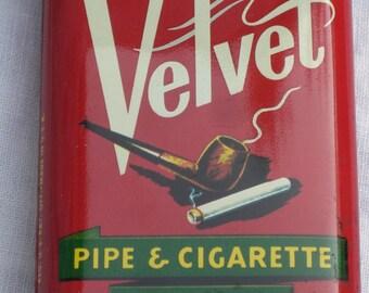 Tobacco Tin - Velvet - Vintage