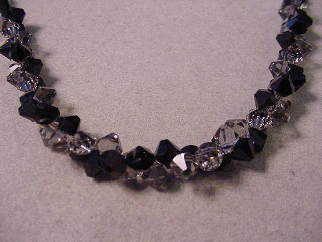 Swarovski Crystal Necklace Black Diamond And By