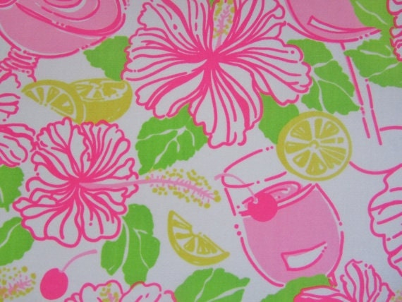 Lilly Pulitzer fabric Havana Cocktail 18 X 18 inches