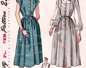 Simplicity 2459 Maternity Dress, Jumper & Blouse / ca. 1948 / SZ12 UNCUT
